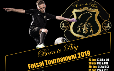 Born to Play organiseert Zaalvoetbal Toernooi 2019!!